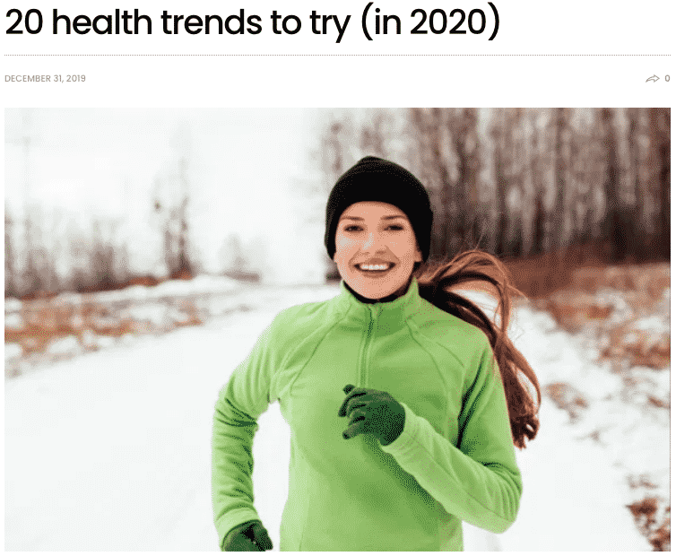 Health Trends to try in 2020