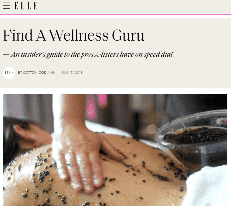 Find a Wellness Gem : Elle Magazine